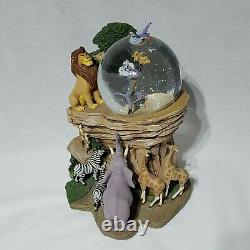 1994 Disney Lion King Pride Rock Circle of Life Musical Snow globe