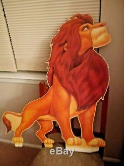 1994 Disney THE LION KING Movie Theater Lobby Standee Display Cutouts SET OF 4