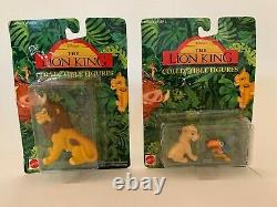 1994 Mattel Disney The Lion King Collectible Figures Set of 10 Circle of Friends