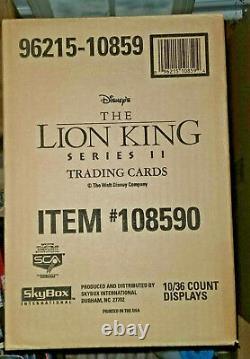 1994 Skybox The Lion King Series 2 Sealed 10 Box Case 360 Packs Psa
