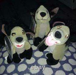 3 Disney Lion King HyenasBANZAI SHENZI EDRare Bean Bag Stuffed Plush 7 Beanie