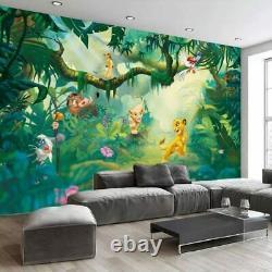 3D Disney Lion King Simba Wall Mural Wallpaper Living Room Kids Bedroom Nursery