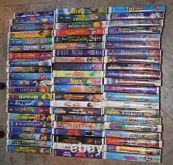 63 WALT DISNEY VHS tapes Black Diamond & rare pieces LION KING LITTLE MERMAID