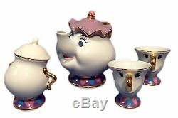 Beauty and the Beast Mrs. Potts and Chip Tea Set Tokyo Disney Resort Limited NEW