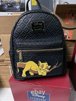 Brand New Loungefly Sleeping Simba Lion King Disney Mini Backpack LE 600 BCT