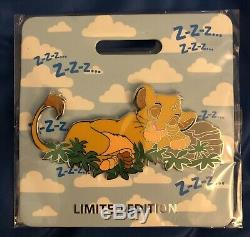 D23 2019 MOG Simba Lion King Cat Nap LE300 Disney Pin WDI Brand New