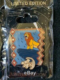 D23 Expo 2019 Disney MOG WDI Pin The Lion King 25th Anniversary Set of 4 New