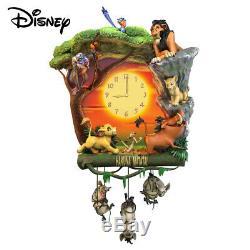DISNEY HAKUNA MATATA WALL CLOCK LION KING Simba, Timon, Pumbaa, Nala, Scar, Zazu