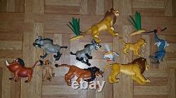 DISNEY Lot of 10 Vintage Lion King Battle Fighting Action Mattel Figure Toys