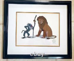 DISNEY THE LION KING (1994) Rafiki & Simba FRAMED SERICEL LIMITED EDITION 5000
