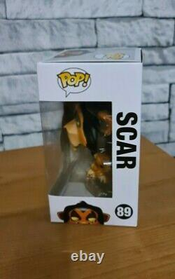DISNEY THE LION KING SCAR Funko pop! 89 New Very Rare with protector