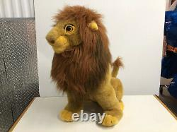 Disney 27 JUMBO Simba Plush The Lion King Mufasa Stuffed Large RARE SIMBA