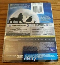 Disney 4k Ultra HD Blu-ray Steelbook lot Aladdin, Lion King, Little Mermaid