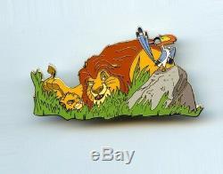 Disney Auctions Father's Day Lion King Mufasa & Simba Stalking Zazu LE 100 Pin