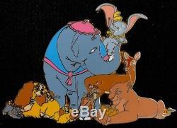 Disney Auctions Pin Dumbo Bambi Lady Lion King Simba Mothers Jumbo Le 100 RARE