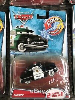 Disney Cars Color Changers McQueen Dinoco Mater Sheriff Cartrip Bernoulli Set 6