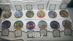 Disney Complete Limited Edition Lion King Collection of Plates with all C. O. A
