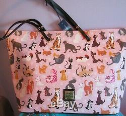 Disney Dooney & Bourke Cats Tote Bag Figaro Cheshire Cat Lion King Simba Lucifer