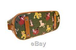 Disney Dooney & Bourke Lion King Zip Satchel crossbody purse SUPER Cute Green