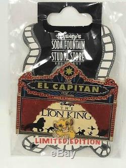 Disney El Capitan Lion King LE 300 Marquee Pin DSF DSSH Simba