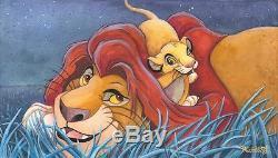 Disney Fine Art Lion King father and Son 16 x 28 LE Artist Michelle St. Laurent