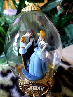 Disney Franklin Mint Collector Eggs Cinderella, Lion King, Aladdin, Beauty Beast