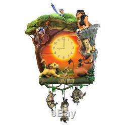 Disney Hakuna Matata Lion King Cuckoo Clock Bradford Exchange