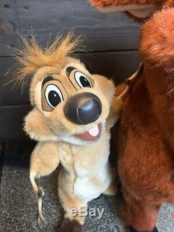 Disney LION KING Timon and Pumbaa Lifesize Plush Douglas Cuddle Toy RARE NWT