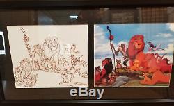 Disney Lion King- 2 Cel Commemorative Movie Set