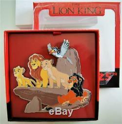 Disney Lion King 25th Anniversary Pride Rock Simba Mufasa Scar Jumbo Pin Le 1000