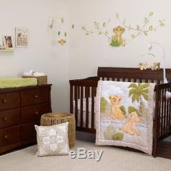 Disney Lion King 9 Piece (WithLINER MUSICAL MOBILE & MORE) Crib Bedding Set