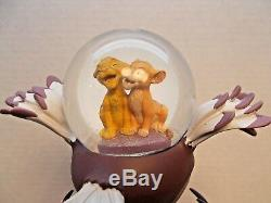Disney Lion King Musical Snowglobe Plays I Just Can't Wait To Be King VHTF c
