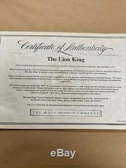 Disney Lion King Original Cast of Characters Ltd Edition Cel Framed COA 1994
