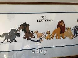 Disney Lion King Original Cast of Characters Ltd Edition Cel Framed Glazed COA