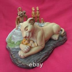 Disney Lion King Sarabi & SIMBA THE NEW PRINCE Statue Figurines