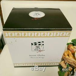 Disney Lion King Snow Dome Snow Globe Music Box 25th Anniversary Super Rare