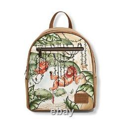 Disney Lion King Vines Loungefly Mini Backpack NWT NEW Simba Timon Pumbaa