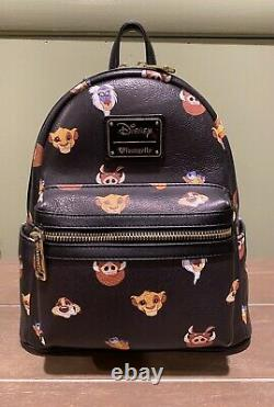 Disney Loungefly Lion King Faces Backpack, Very Rare
