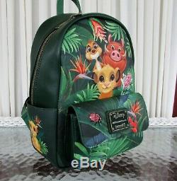 Disney Loungefly Lion King Mini Backpack & Card holder Timon Simbaa NWT