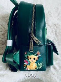 Disney Loungefly Lion King Mini Backpack Tropical Simba Pumbaa Timon Trio NEW