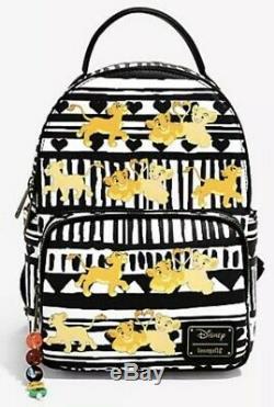 Disney Loungefly The Lion King Simba & Nala Mini Backpack NWT