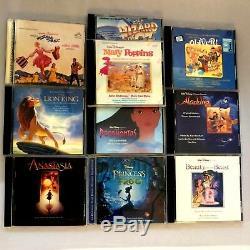 Disney Movie Soundtracks CD Fantasia Lion King Beauty & Beast Anastasia CD Lot