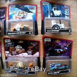 Disney PIXAR Cars STAR WARS COMPLETE SET ALL Theme Parks lot diecast 2013-2015