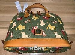 Disney Parks Dooney & Bourke Zip Satchel Handbag Purse Lion King 2019 BAG Simba