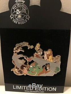 Disney Pin 55950 The Jungle Book Meets The Lion King LE 500 Jumbo