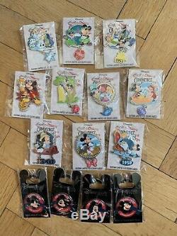Disney Pin Event 425 Mickey Ariel Alice Peter Pan Lion King Figaro Aristocats