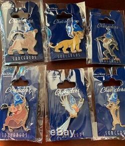 Disney Pin WDI Walt Imagineering Sorcerer Hat Lion King Set Simba Nala Rafiki