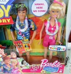 Disney Pixar Toy Story Barbie & Ken Doll Set Hawaii Hawaiian Vacation NEW IN BOX