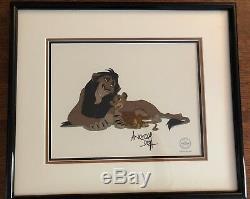 Disney Sericel Scheming Scar Lion King Signed Andreas Deja