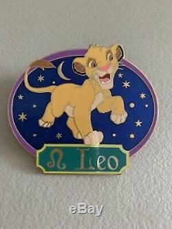 Disney Shopping Lion King Simba Leo Horoscope Jumbo Pin LE 300 HTF Rare Store